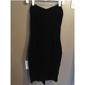 Dresses & Skirts - Black Strapless Vintage Velour Dress